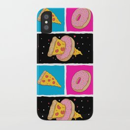 Pizza & Donut iPhone Case