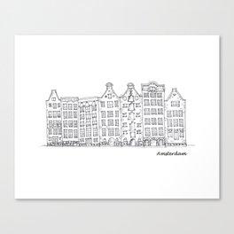 Amsterdam Streetscape Canvas Print