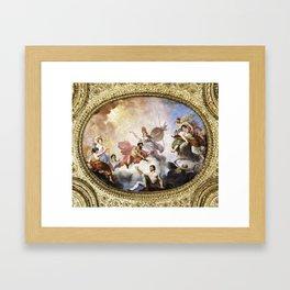 Fresco on Ceiling in Paris Framed Art Print