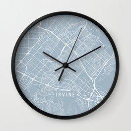 Irvine Map, USA - Slate Wall Clock