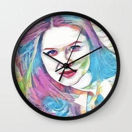 Bonnie Wright (Creative Illustration Art) Wall Clock