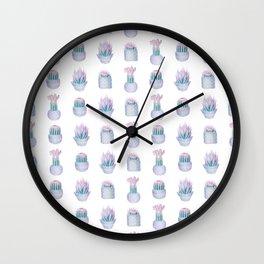 Succulent Haze Wall Clock