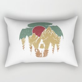 Forest Nature Camping Vibrant Design Rectangular Pillow