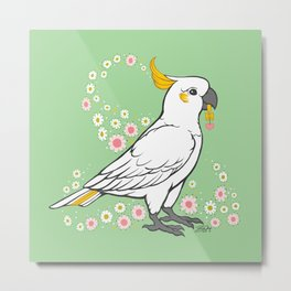 Fluffy The Sulphur Crested Cockatoo Metal Print