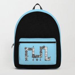 Angular hairy robot Backpack