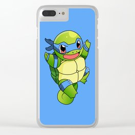 TMNT_POKET_MONSTER_BLUE Clear iPhone Case