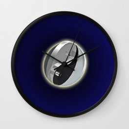 DOUBLE YIN AND YANG IN SPACE Wall Clock