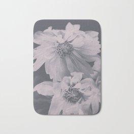 Floral Black White 2 Bath Mat
