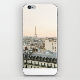 On the rooftops of Paris iPhone Skin