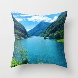 Dolomite Glacial Lake Throw Pillow