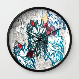 The patchwork Wall Clock