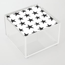 Star Pattern Black On White Acrylic Box
