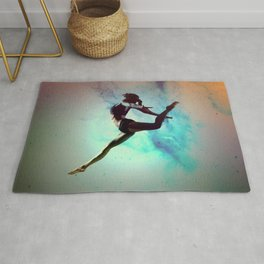 Ballet Dancer Feat Lady Dreams Abstract Art Rug