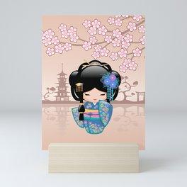 Japanese Keiko Kokeshi Doll Mini Art Print