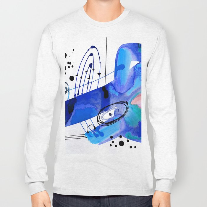 Abstract Serenade 4d by Kathy Morton Stanion Long Sleeve T-shirt
