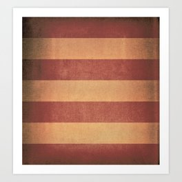 Vintage red striped deck chair cover Art Print