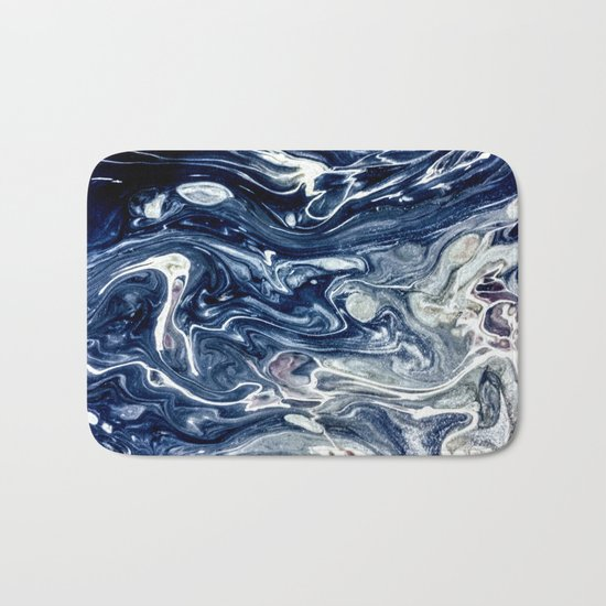 Wild Blueberry Swirl Bath Mat