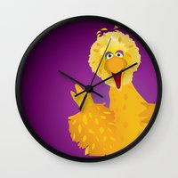 muppets Wall Clocks featuring Big Bird - Muppets Collection by Bryan Vogel