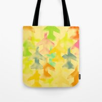 planes Tote Bags featuring Planes by Megan Spencer