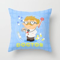 doctor Throw Pillows featuring Doctor by Alapapaju