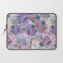 Purple and blue Lilac & Hydrangea - Flower Design Laptop Sleeve
