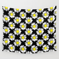 daisies Wall Tapestries featuring Daisies by Ornaart