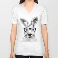 kangaroo V-neck T-shirts featuring kangaroo by  Steve Wade ( Swade)
