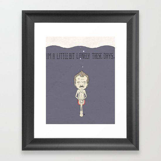 """I'm A Little Bit Lonely These Days."" - Blume Framed Art Print"