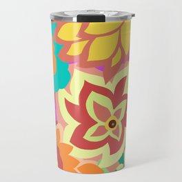 CAMBRIA, ART DECO FLORALS: MOD MADNESS Travel Mug
