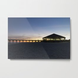 Sunset at the Tybee Island Pavillion Metal Print