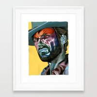 clint eastwood Framed Art Prints featuring Clint Eastwood by Cartyisme