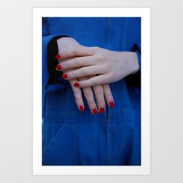 rhiannon's hands Art Print