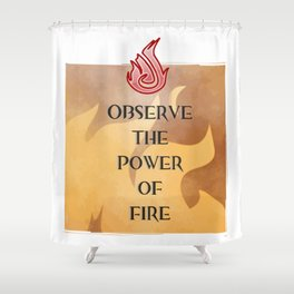 Fire Attunement Shower Curtain