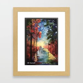 Rainy Path Framed Art Print