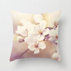 Pastel Apple Bloom Throw Pillow