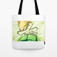 kindle Tote Bags featuring Light in Doomsday by garciarts