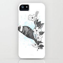Bird and cherry blossoms iPhone Case