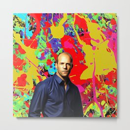 Jason Statham - Celebrity Art Metal Print