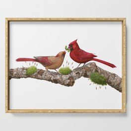 Northern  Cardinals Serving Tray