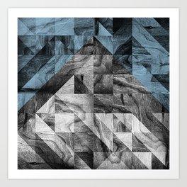 STONE STONE BLUE Art Print