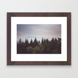 Mountain Range - Landscape Photography Framed Art Print