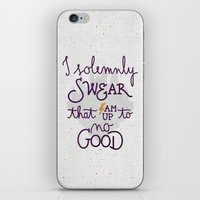 dumbledore iPhone & iPod Skins featuring I am up to no good by Earthlightened