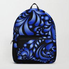 Gzhel black pattern Backpack
