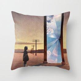 The broken window Throw Pillow