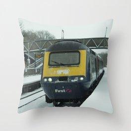 HST snow Throw Pillow