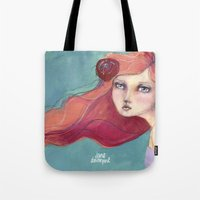 jane davenport Tote Bags featuring Beautiful Faces by Jane Davenport by Jane Davenport