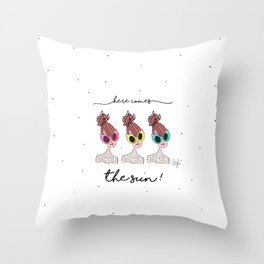 Here comes the sun. Throw Pillow