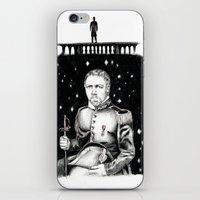 les miserables iPhone & iPod Skins featuring Les Miserables Portrait Series - Javert by Flávia Marques