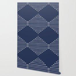 Geo (Navy) Wallpaper