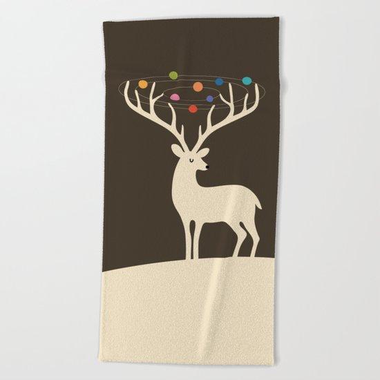My Deer Universe Beach Towel